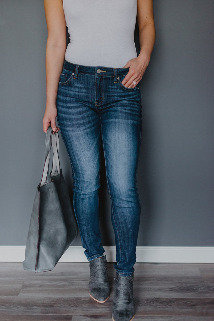 Just the Basics Mid-Rise Denim Skinnies