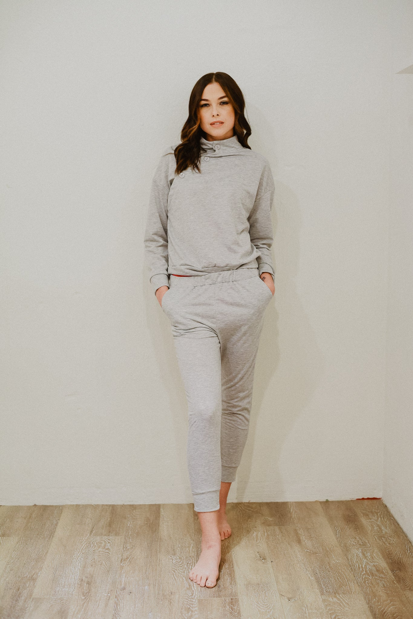 Let's Go Wear-ever Casual Set in Grey