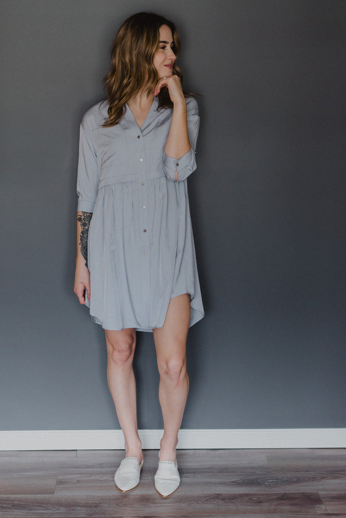 Kelsey Button Up Babydoll Dress / FINAL SALE