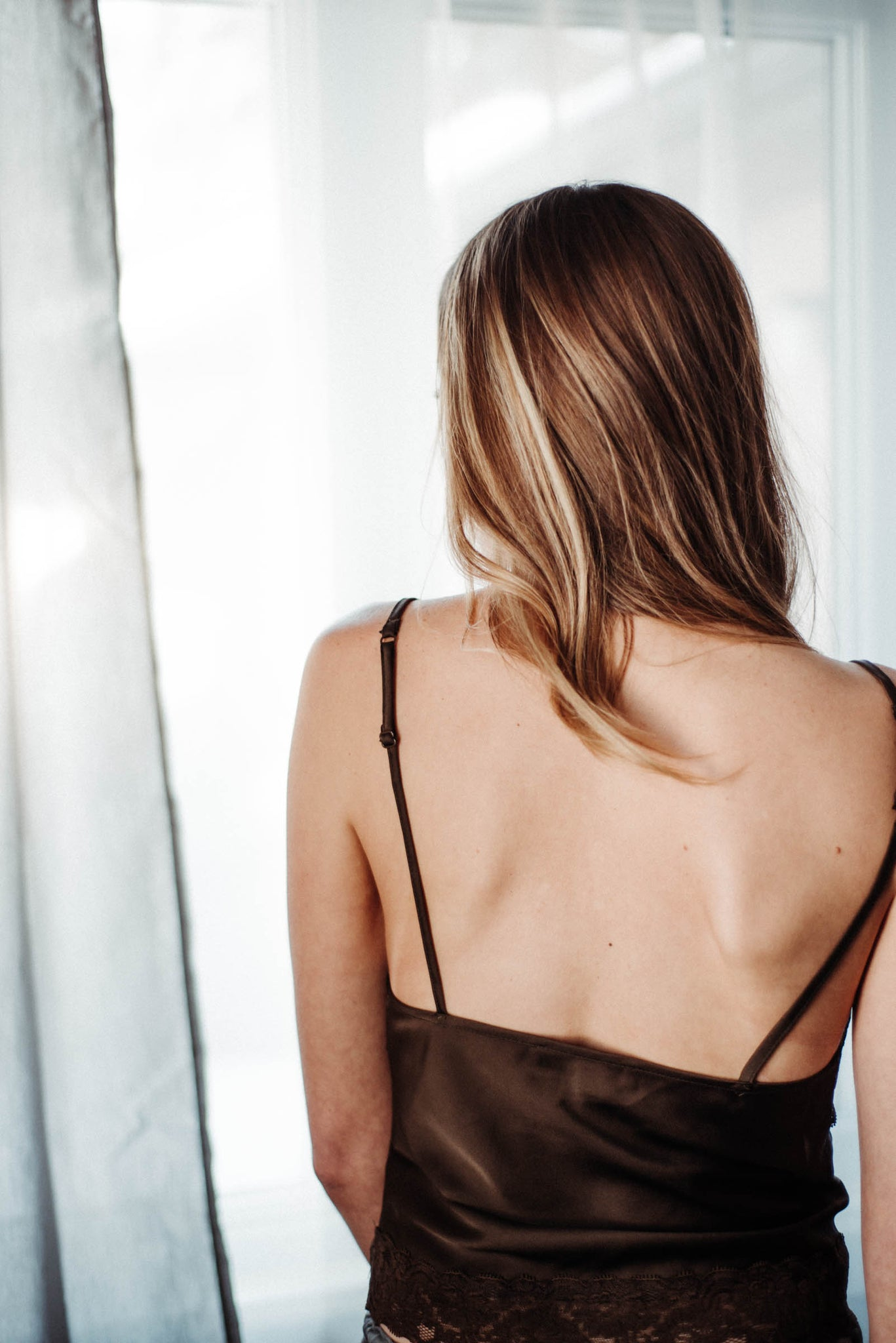 FINAL FEW / In The Moment Satin & Lace Cami Tank in Copper