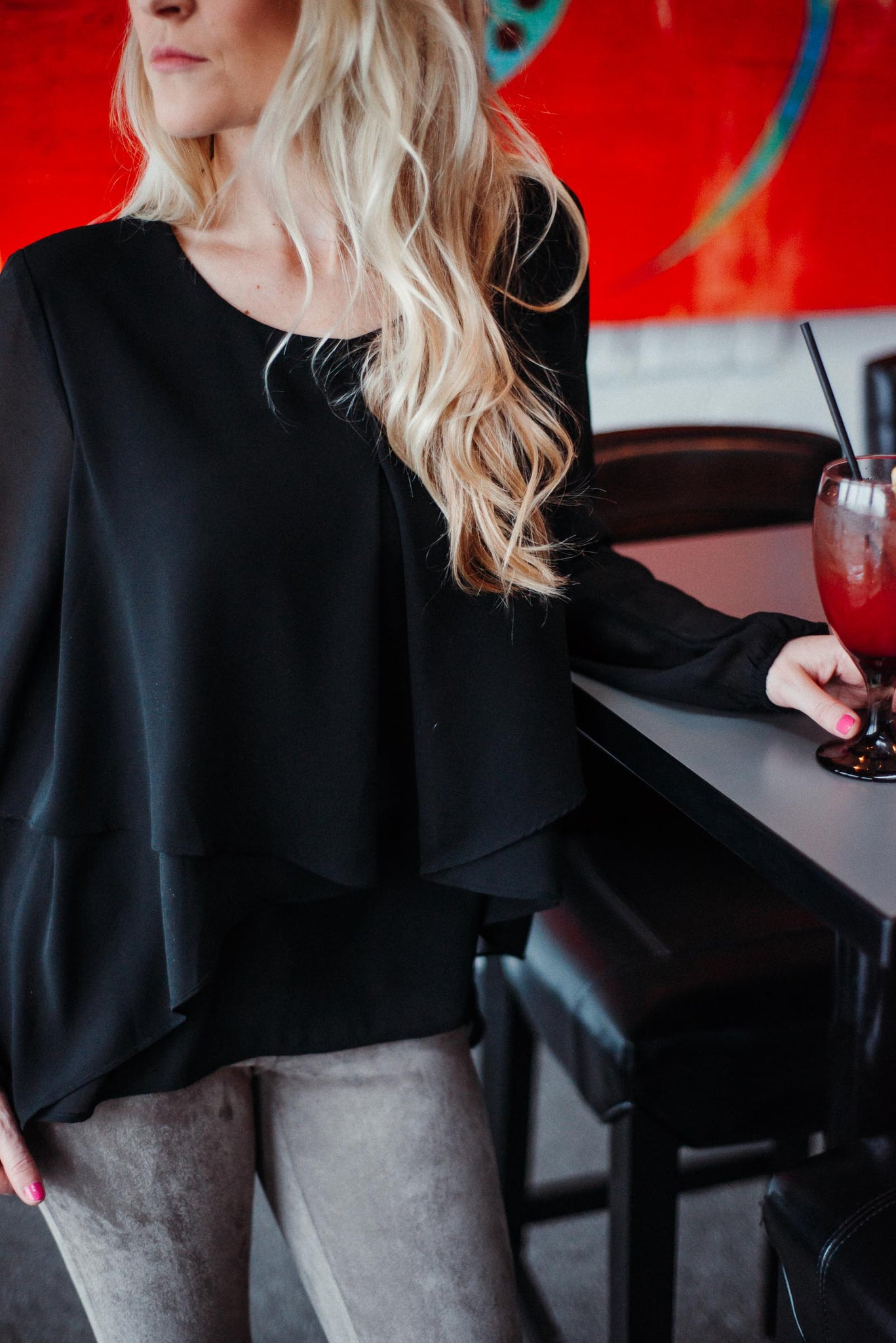 SOLD OUT / Free Flow Layered Ruffle Top