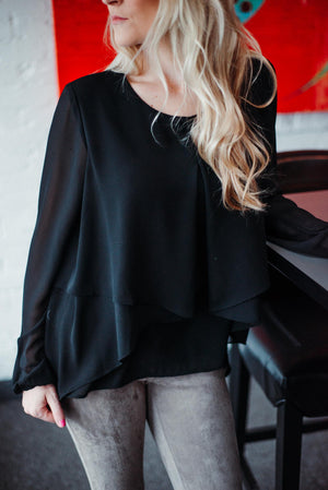 Free Flow Layered Ruffle Top