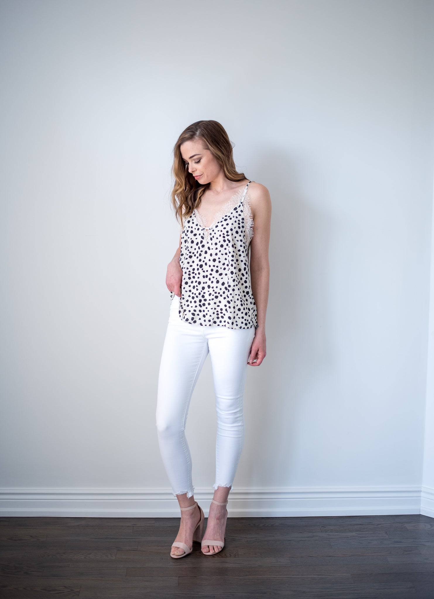 Wild Card Leopard Lace Cami in Leopard