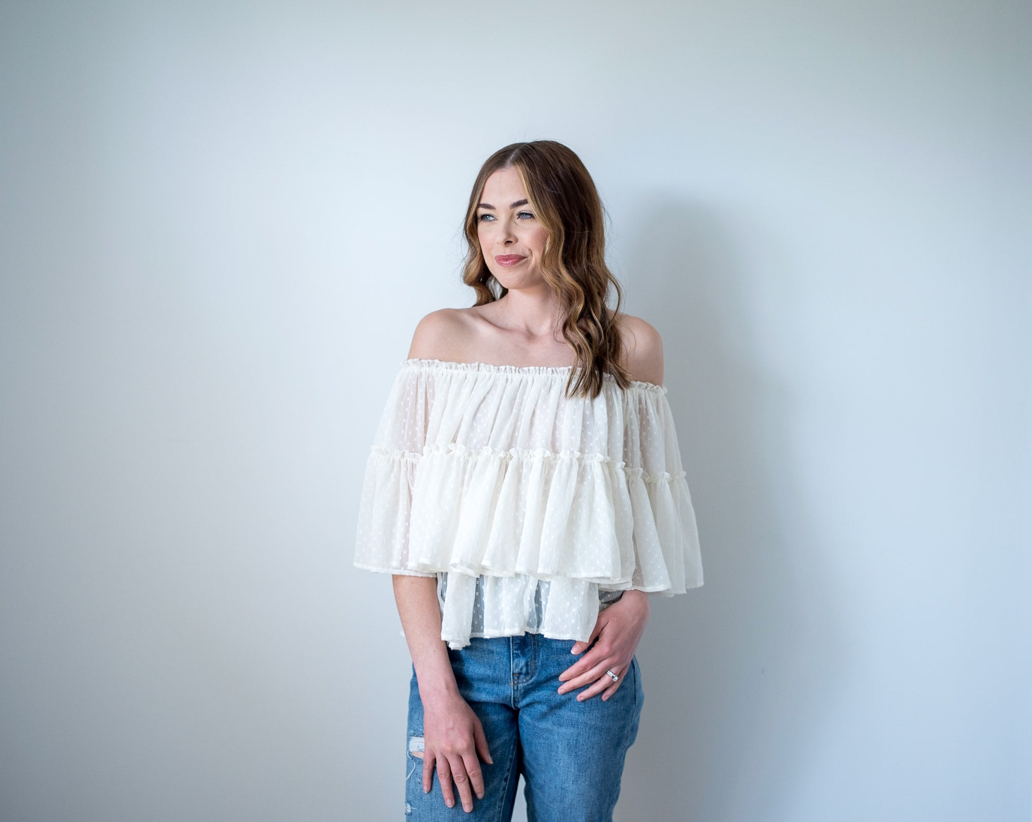 Hello Darling Off the Shoulder Top