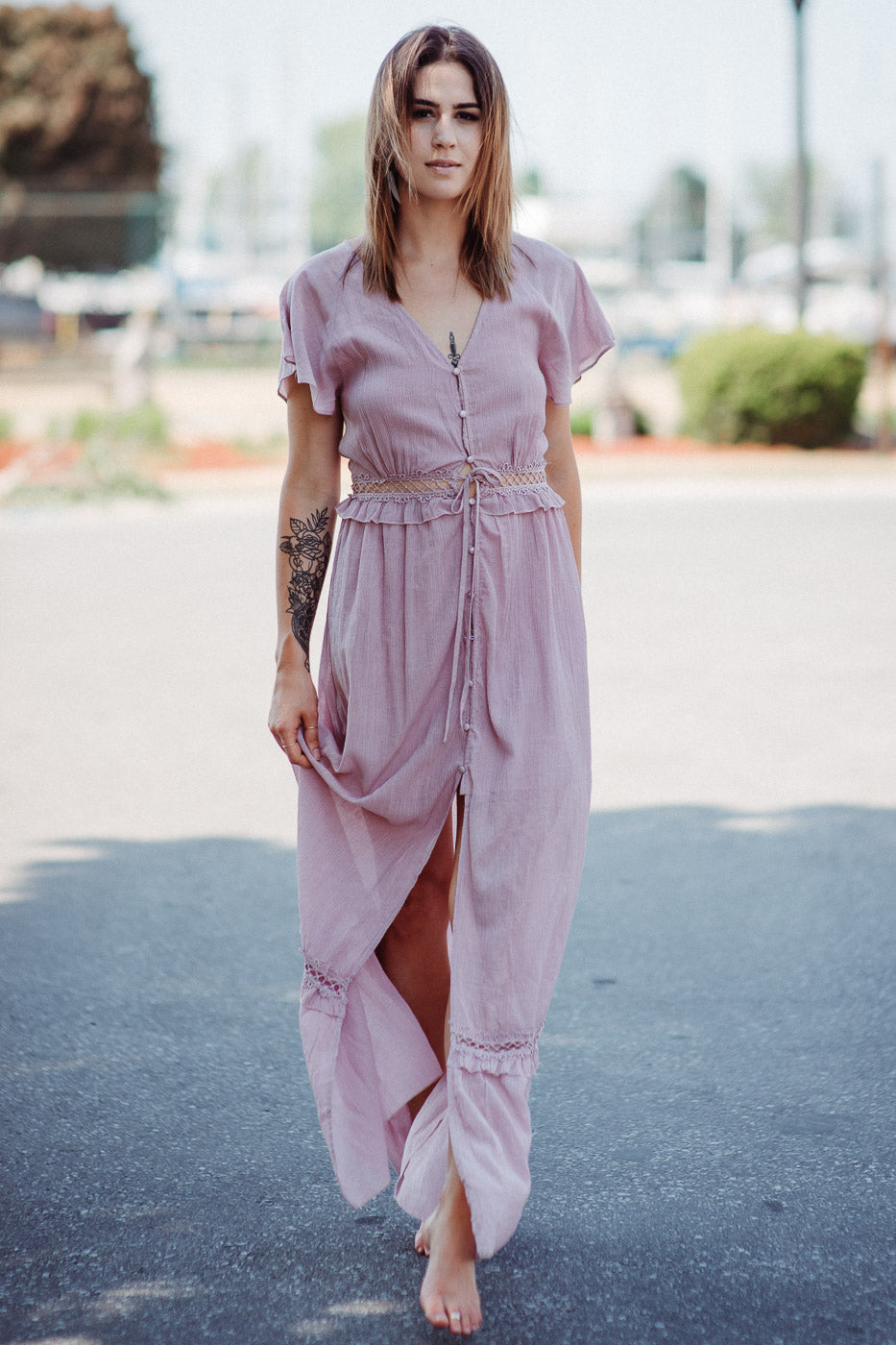 Flutter and Fly Woven Maxi in Rose