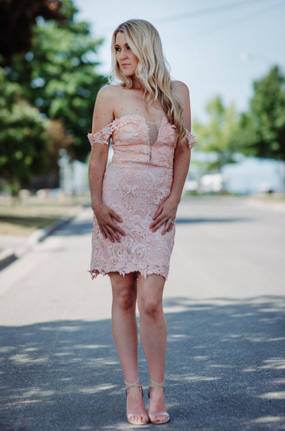 Vera Lace Dress in Coral / FINAL SALE