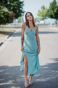 Maida Plunging Maxi Dress