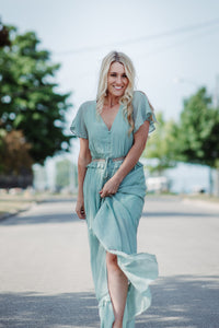 Flutter and Fly Woven Maxi in Sage