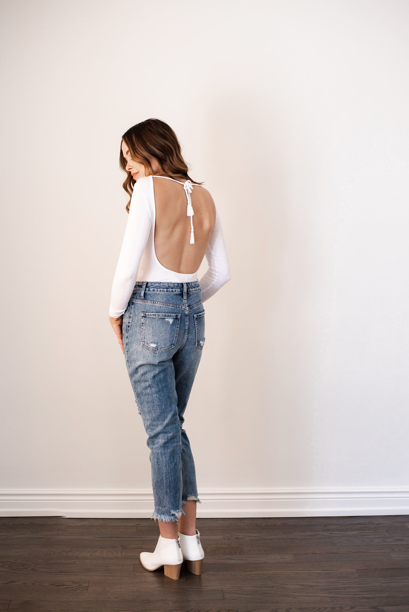 Way Too Cool Distressed Mom Jeans