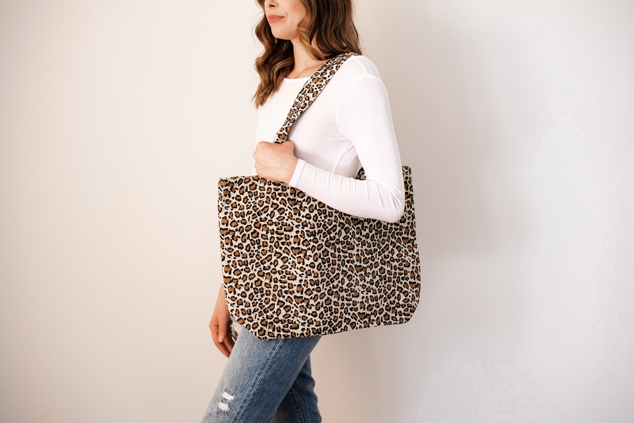 Fierce of Nature Tote Bag in Beige/Brown / FINAL SALE