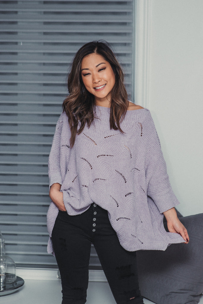 SOLD OUT / Sugar Plum Wavy Sweater