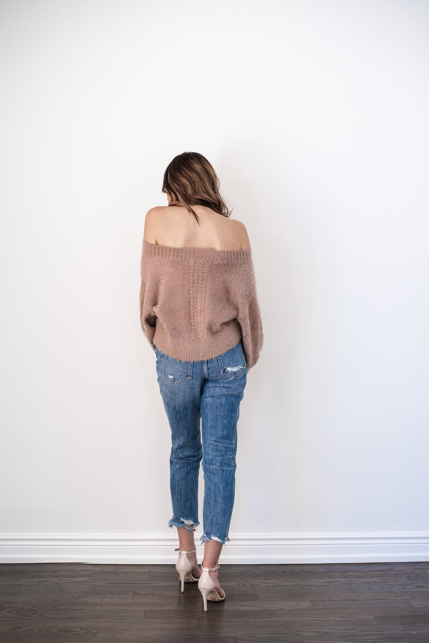 Act Cool and Casual Fuzzy Sweater in Mocha