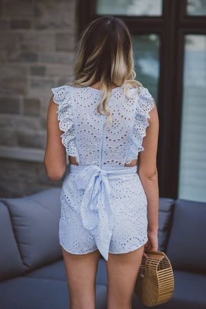 Love Actually Cotton Eyelet Romper