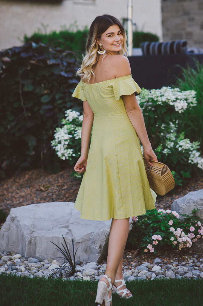 Pocket Full of Sunshine Off the Shoulder Dress / FINAL SALE