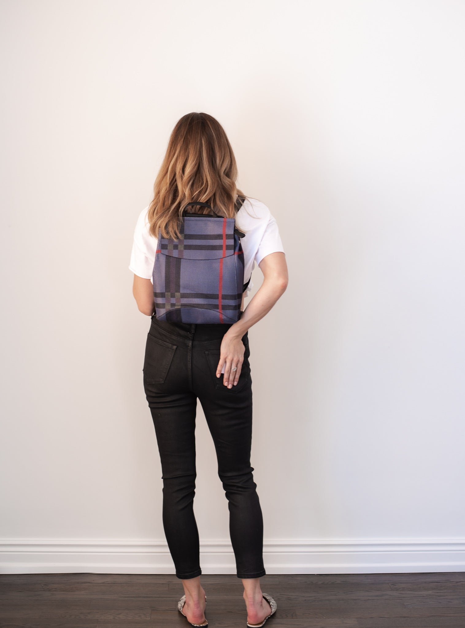 Stay in Line Plaid Check Backpack / FINAL SALE