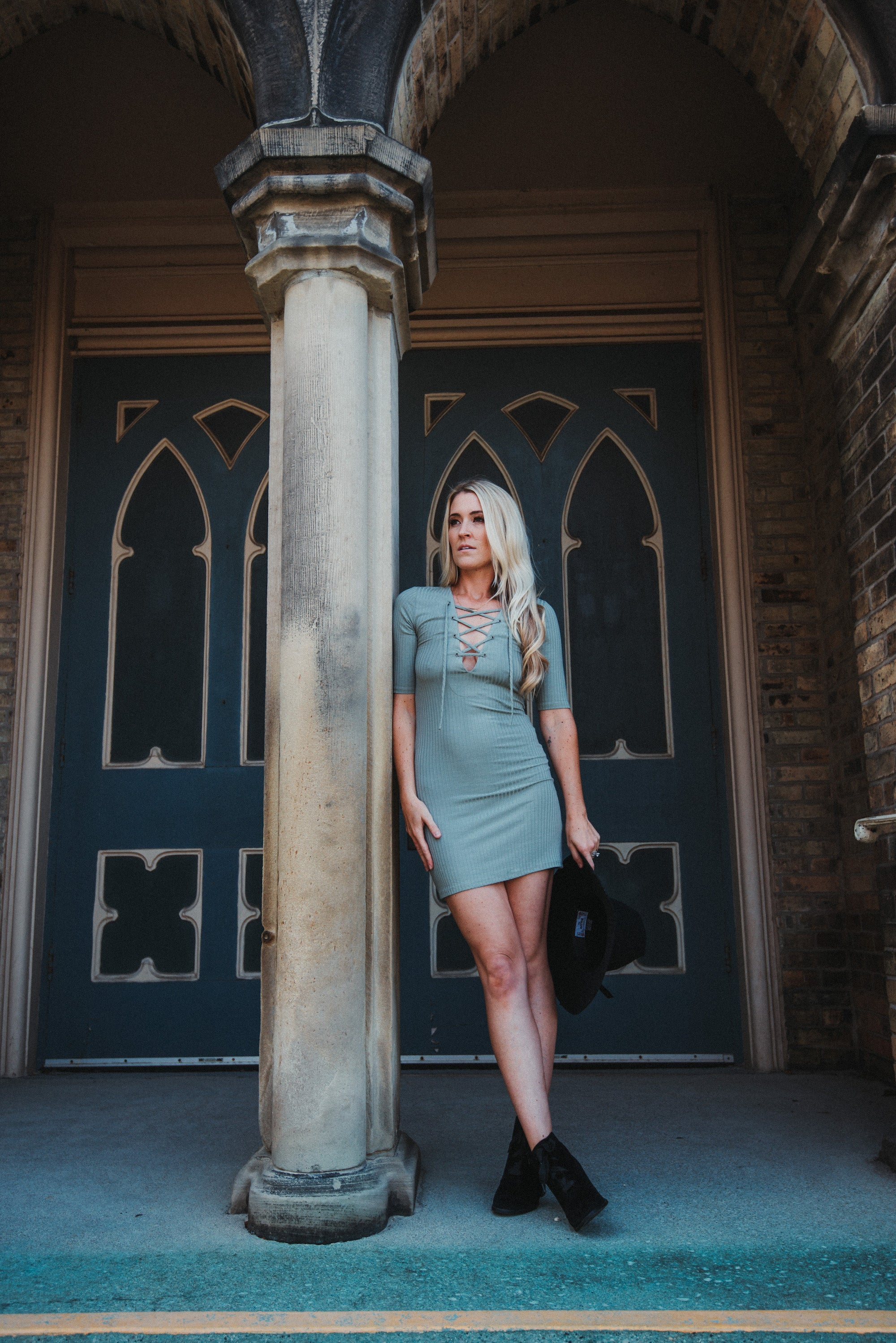 Top Secret Lace Up Dress / FINAL SALE