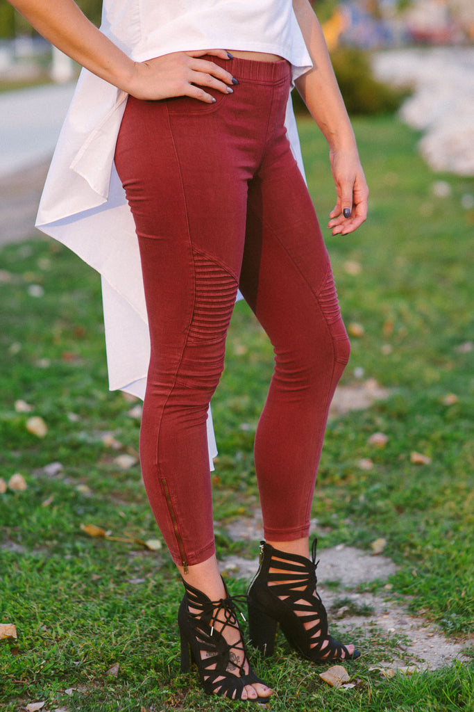 SOLD OUT / Piper Jeggings in Burgundy