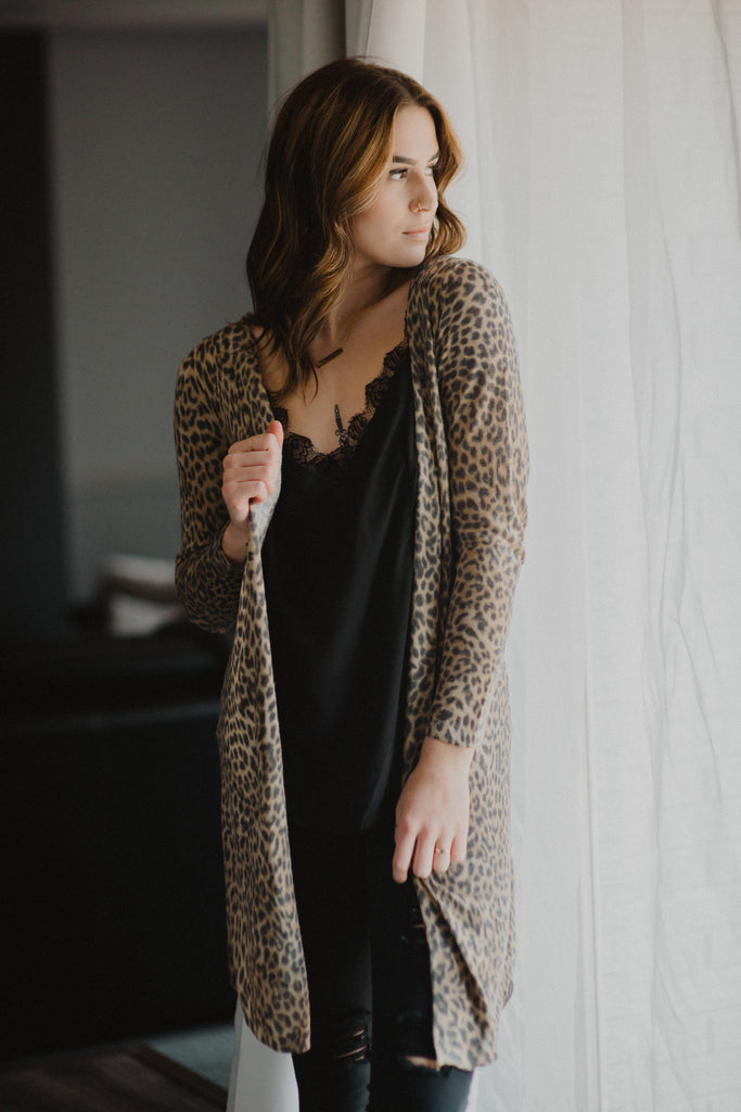 SOLD OUT / Right Meow Leopard Cardigan