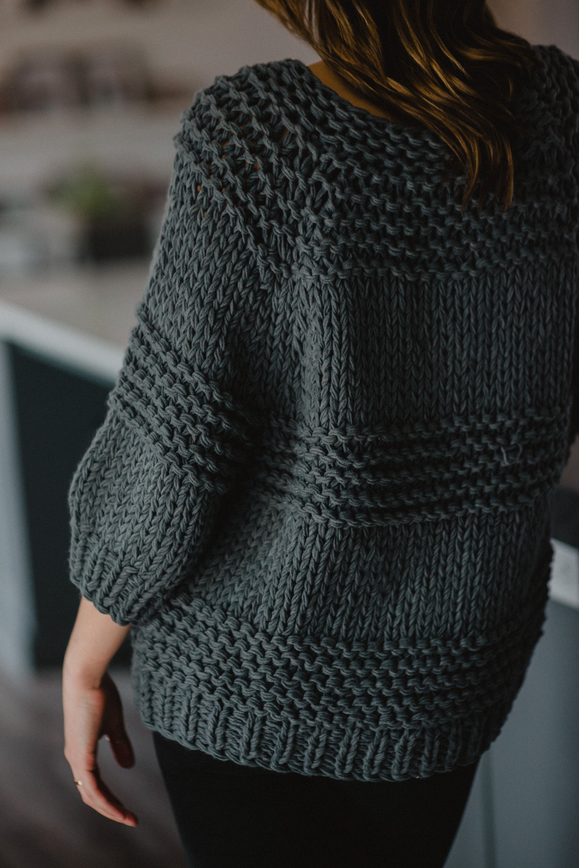 Snug + Warm Knit Sweater in Charcoal / FINAL SALE