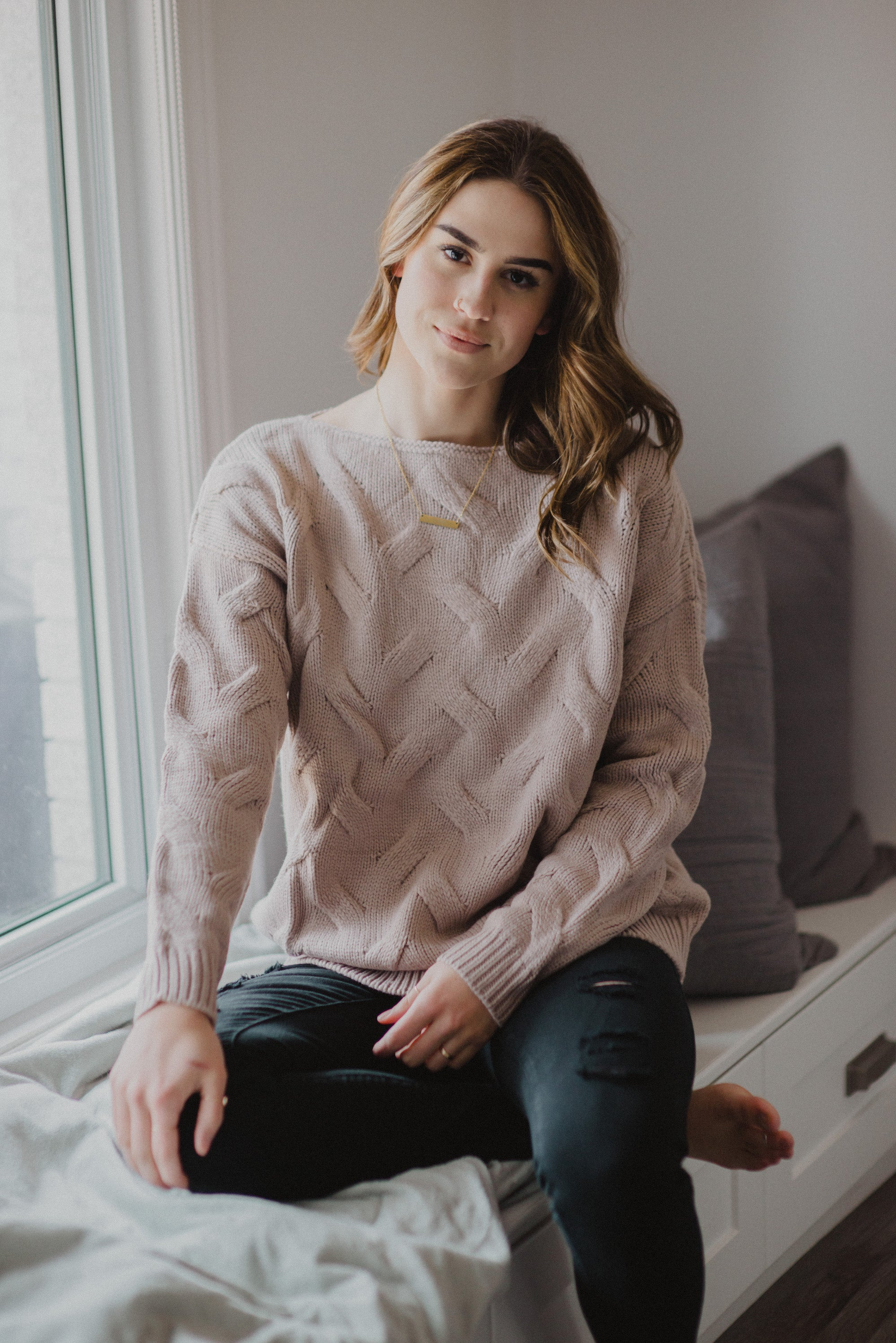 Nova Scotia Cross Wave Sweater / FINAL SALE