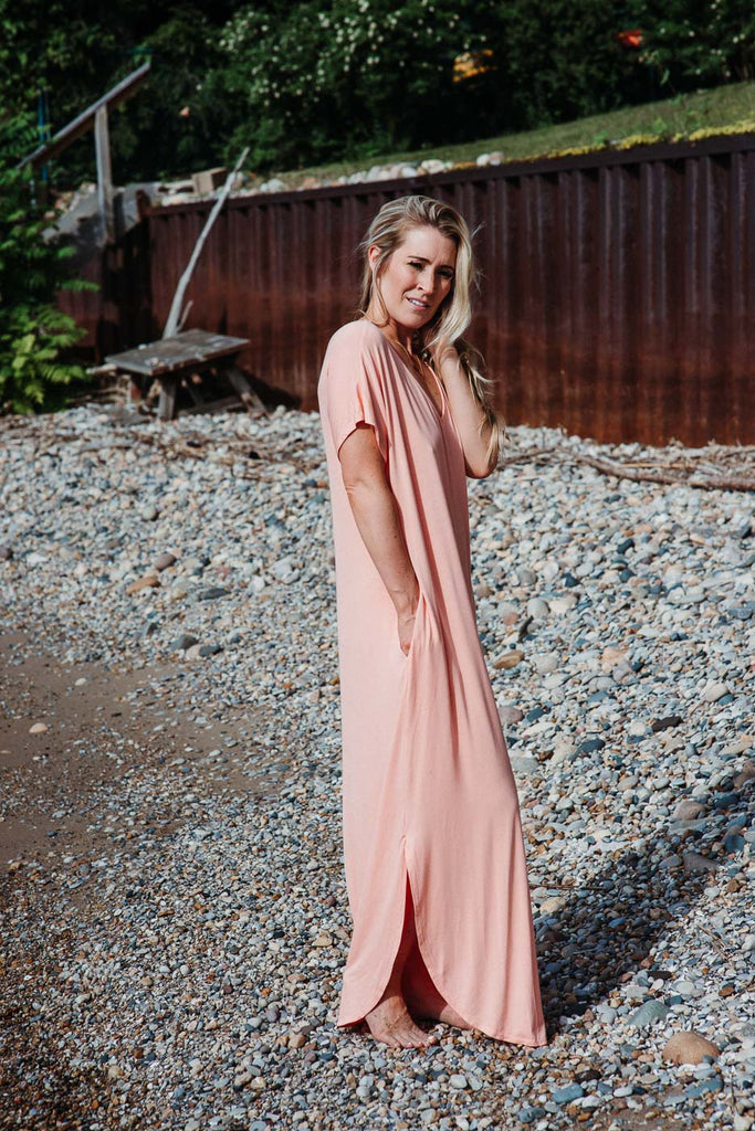 A New Day Scoop Maxi Dress in Peach