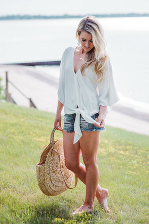 Distressed Cut Off Denim Shorts