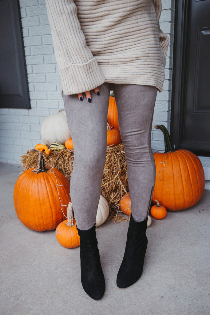 Ride Away Faux Suede Leggings in Mocha / FINAL SALE