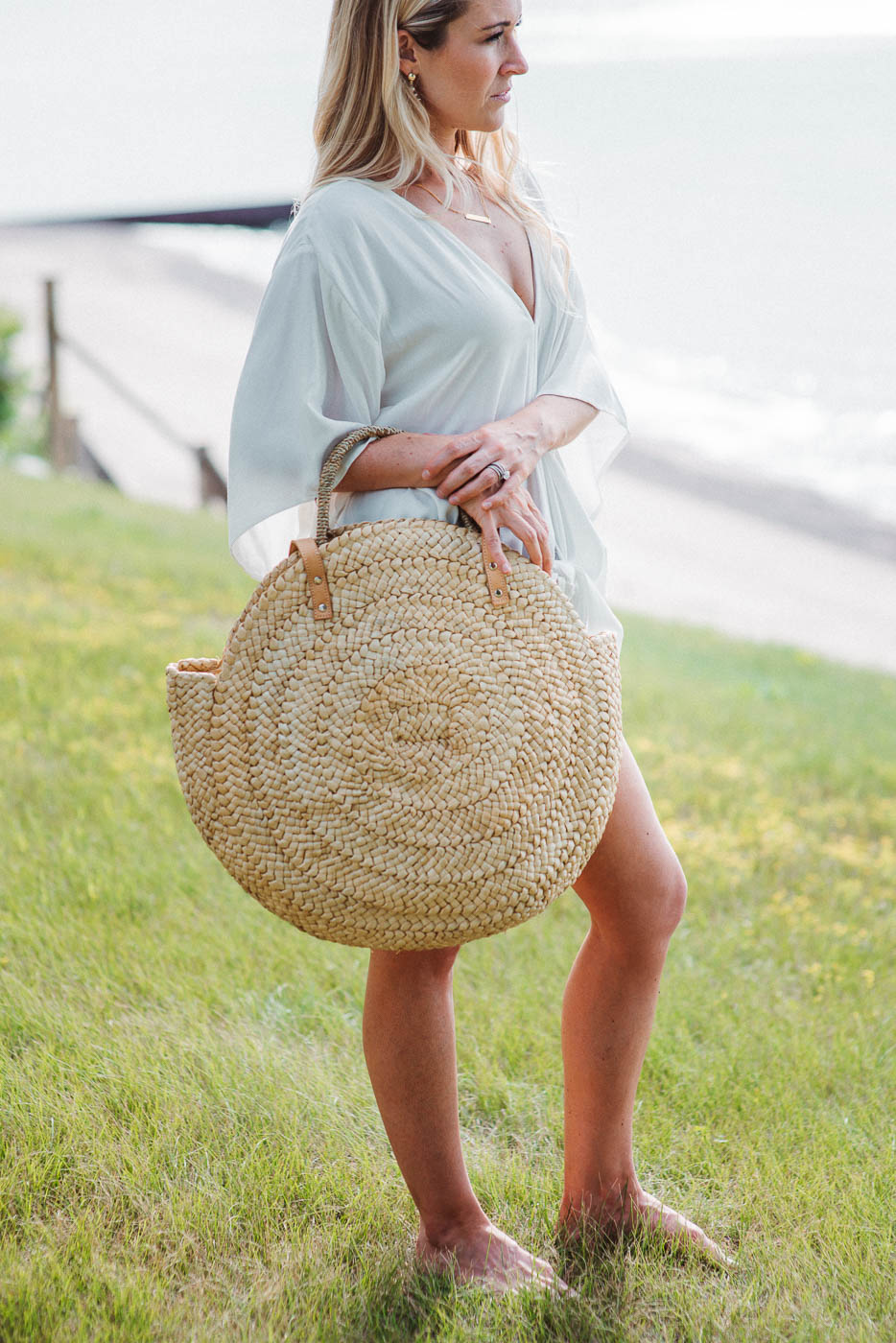 FLASH SALE / Headed to the Beach Straw Circle Bag