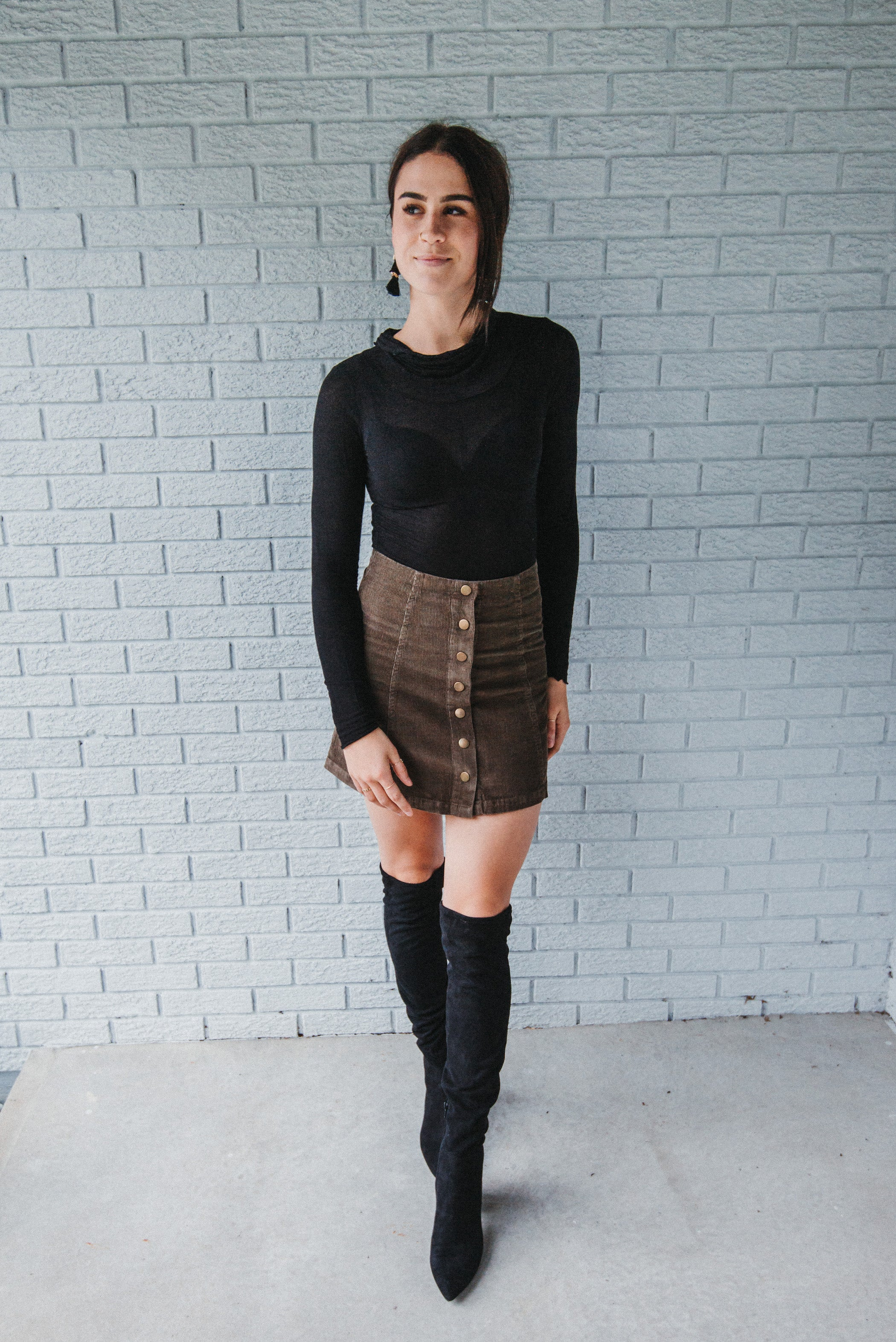 Retro Vibes Corduroy Skirt / FINAL SALE