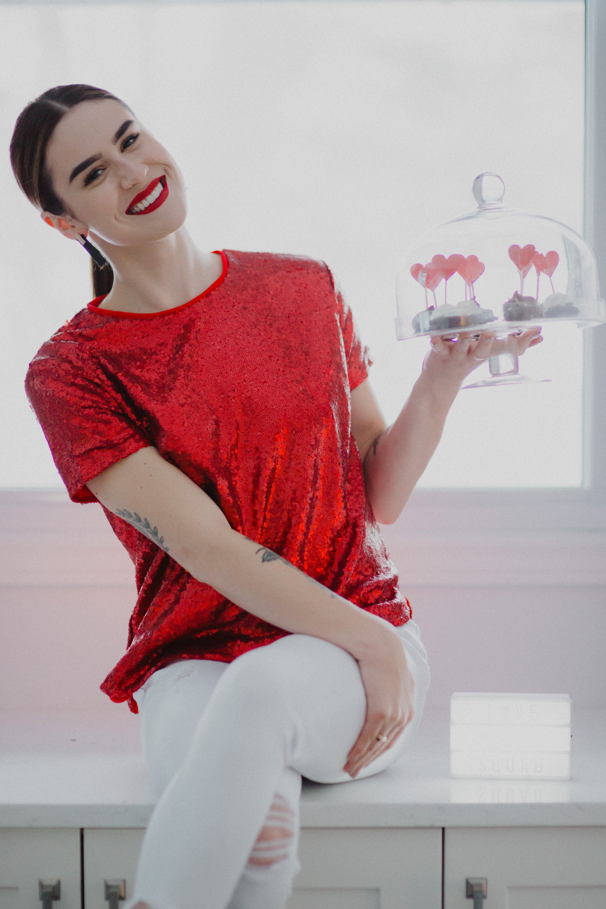 Glimmer of Hope Red Sequin Top / FINAL SALE