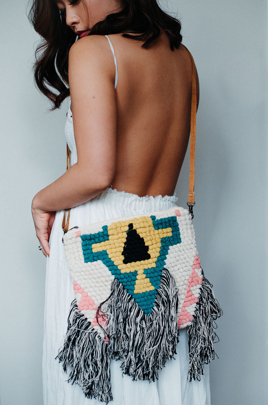 SOLD OUT / Tribal Fringe Crossbody Bag