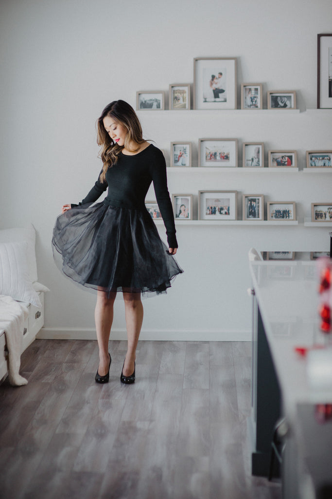 6094a778a7a5a Tranquil Thoughts Tulle Dress in Black   FINAL SALE