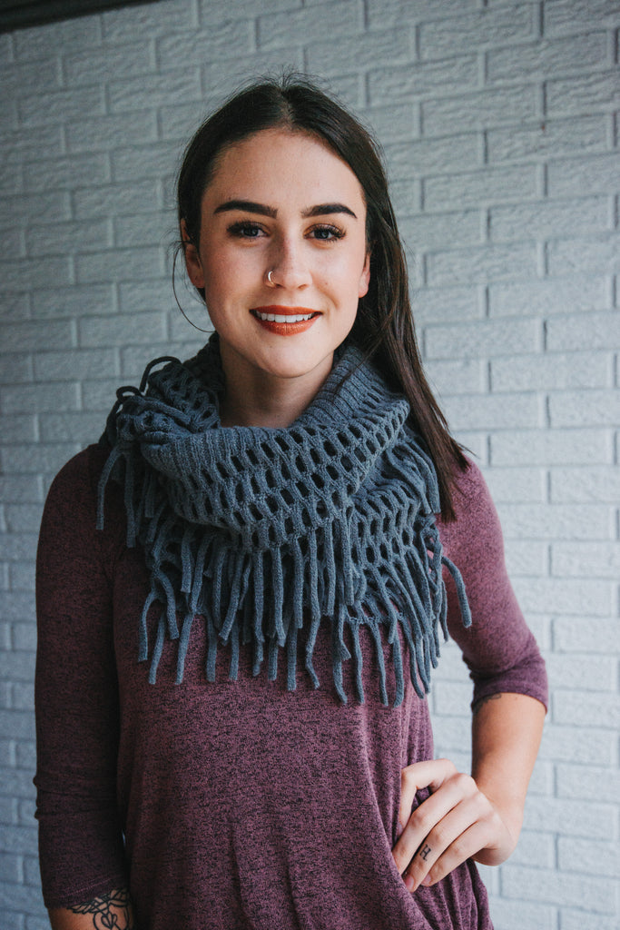 SOLD OUT / All the Fringe Infinity Scarf