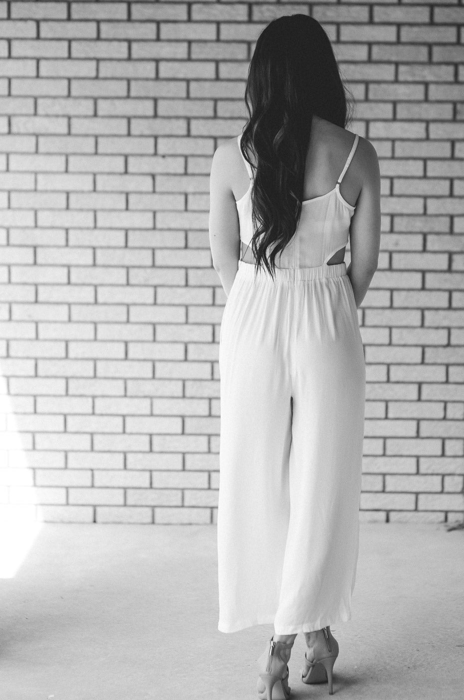 Shay Wide-Leg Jumpsuit in White / FINAL SALE