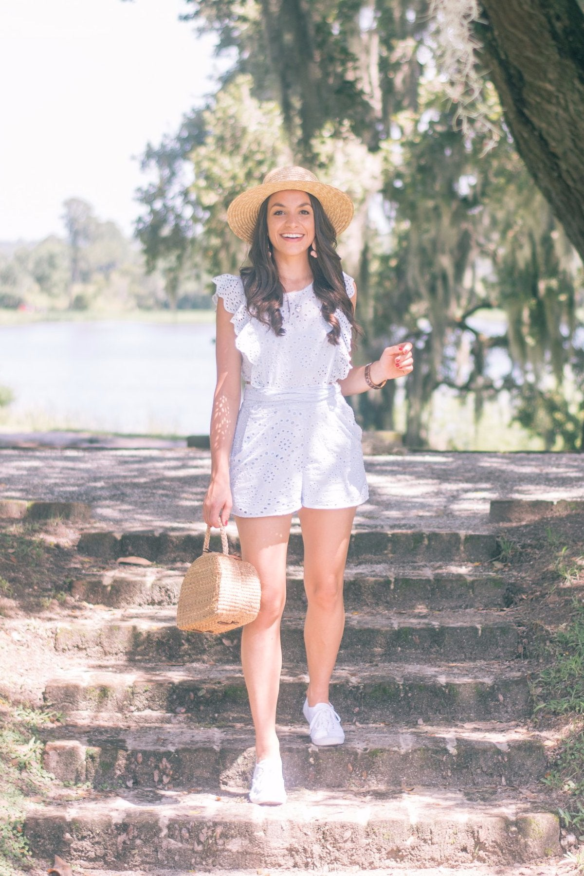 Love Actually Cotton Eyelet Romper / FINAL SALE