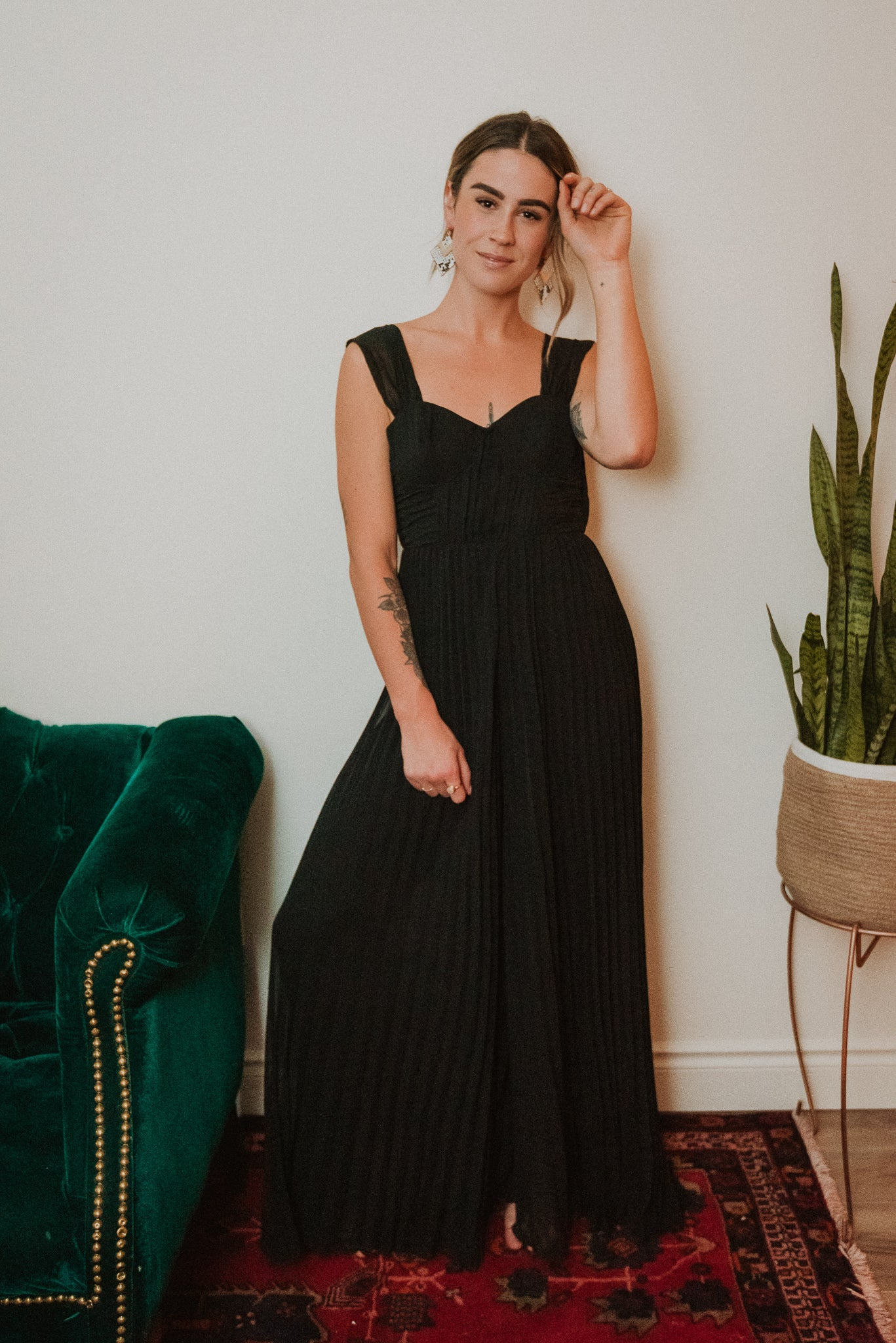 Under the Mistletoe Pleated Jumpsuit / FINAL SALE