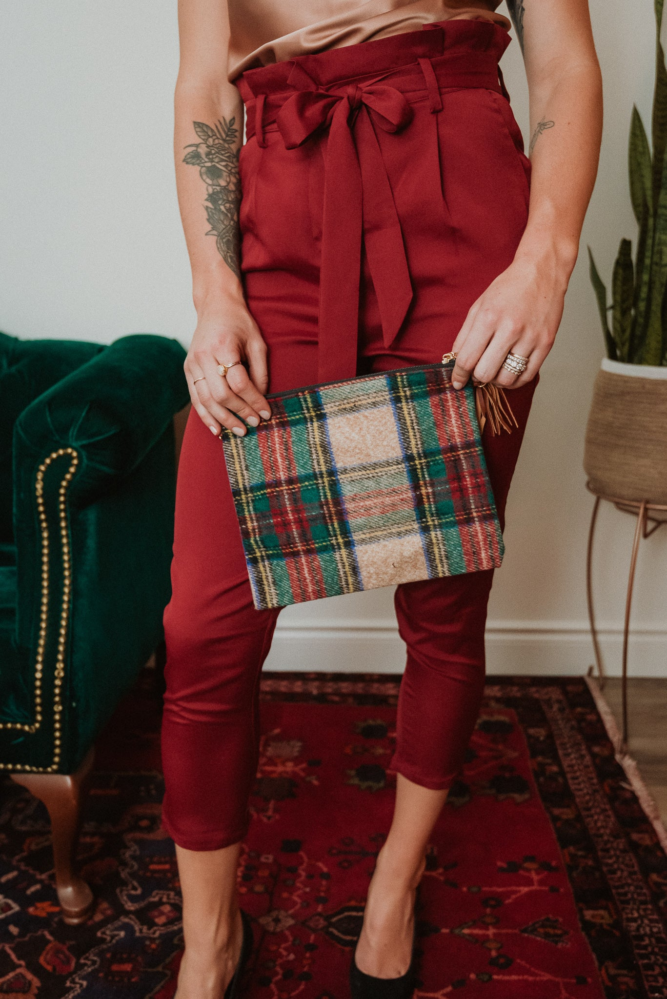Always Classic Tartan Convertible Bag
