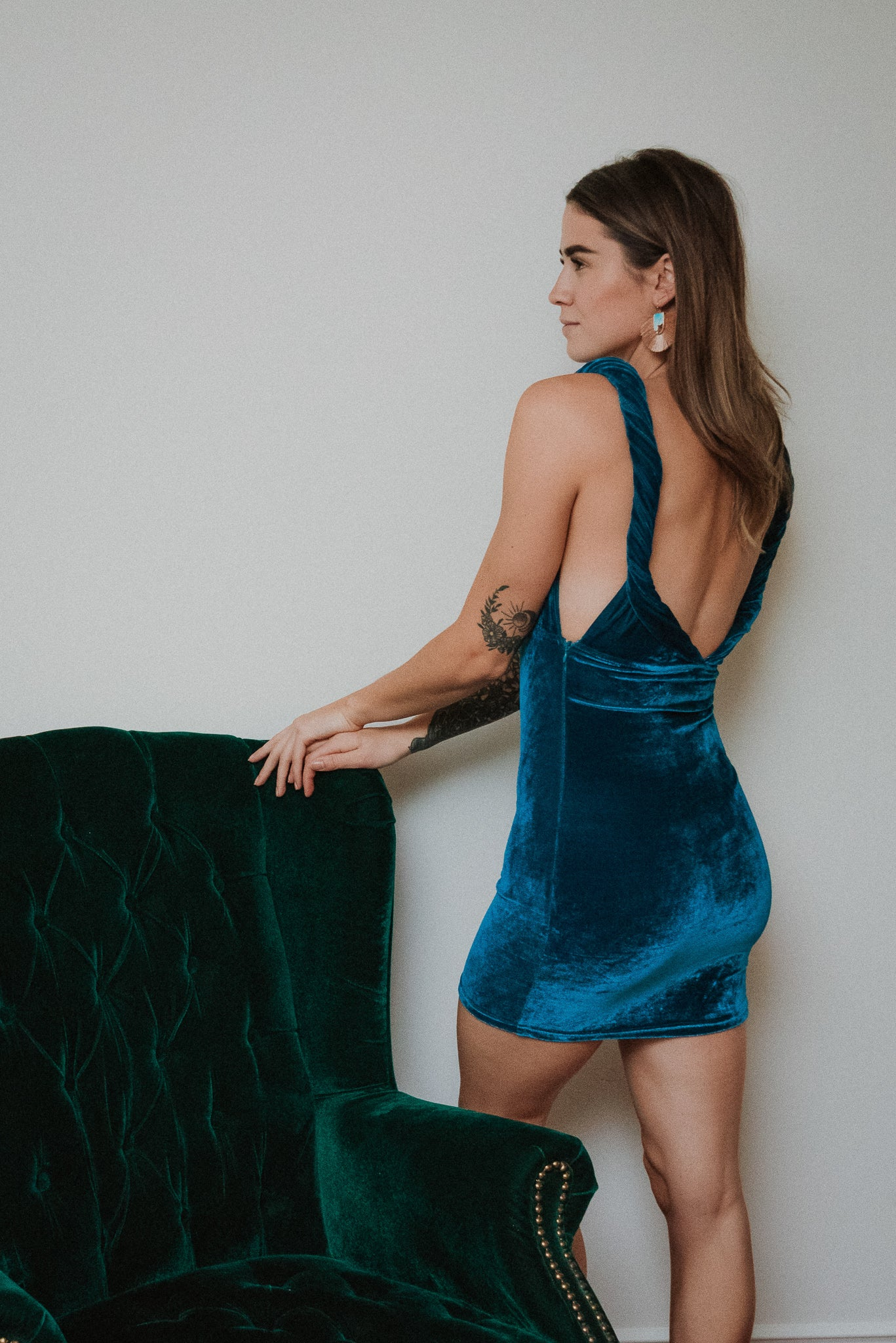 Prancer & Vixen Velvet Dress