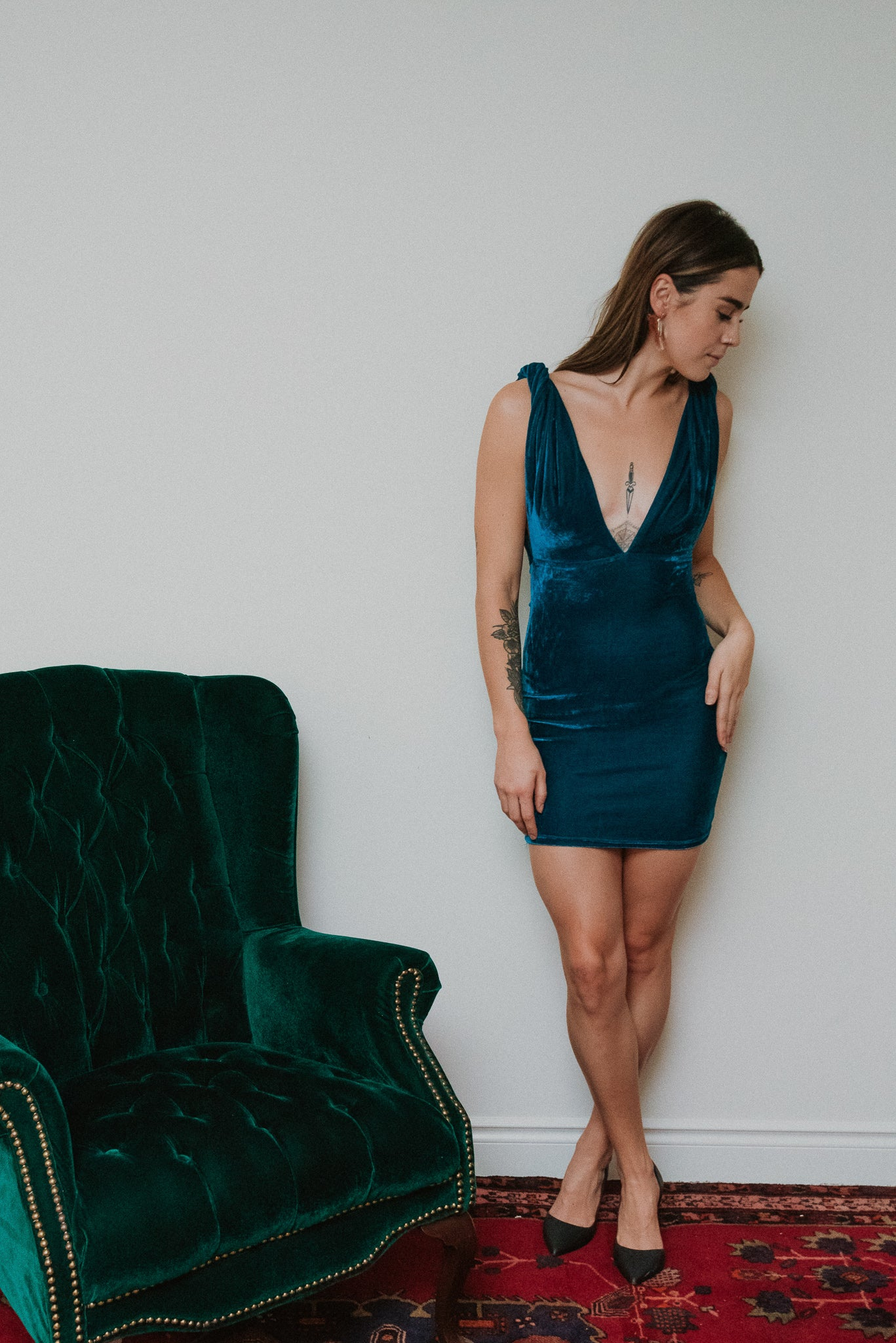 Prancer & Vixen Velvet Dress / FINAL SALE