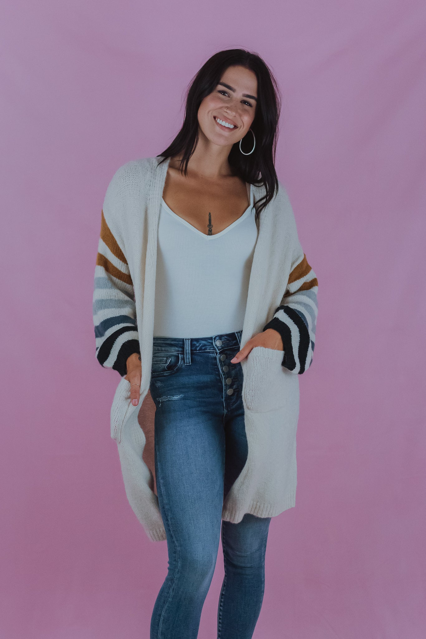 Going For A Hayride Knit Cardigan
