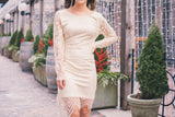 The Gerri Lace Dress in Ivory / FINAL SALE