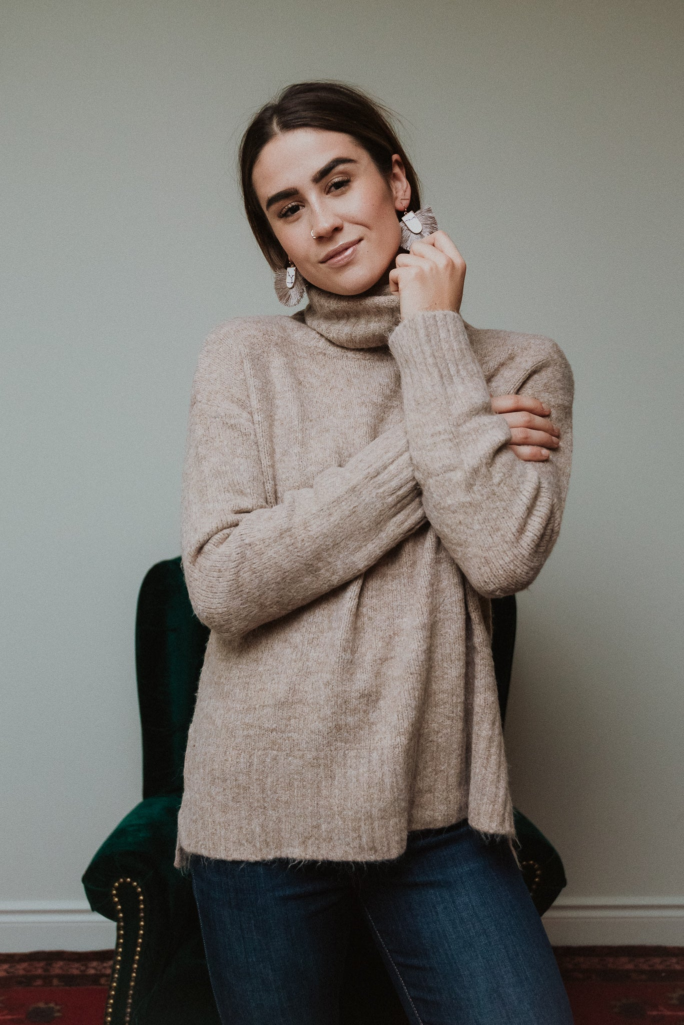 The Henry Sweater in Oatmeal