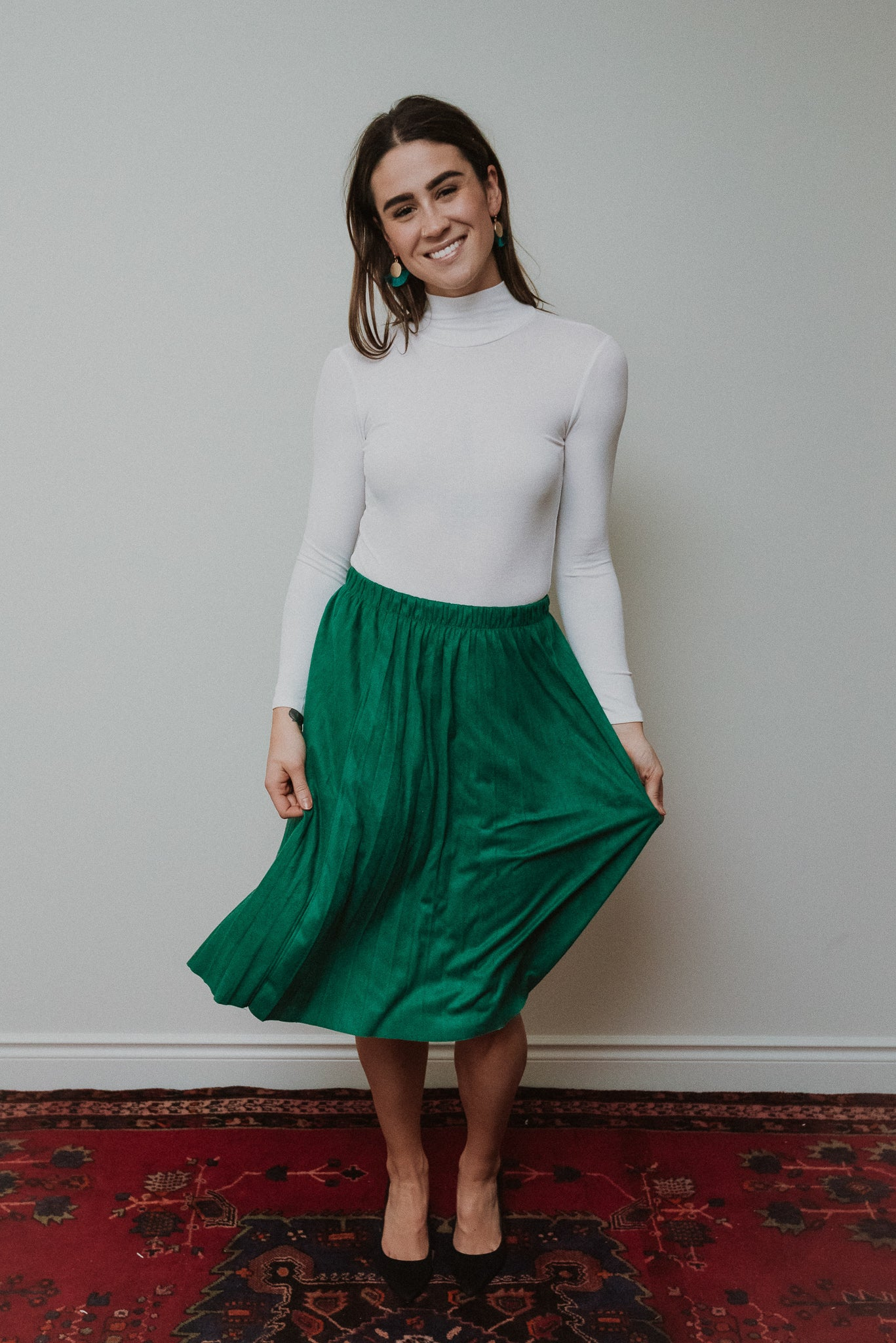 The Linda Pleated Midi Skirt / FINAL SALE