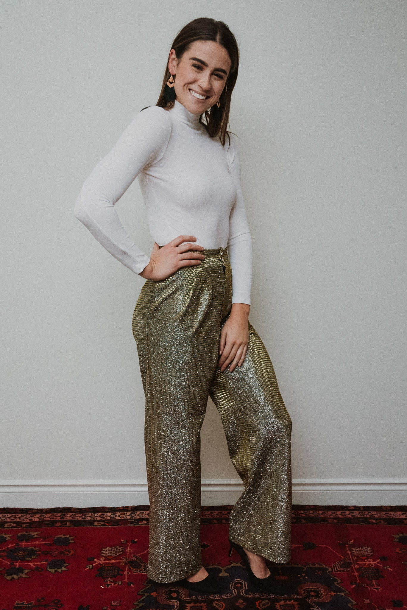 The Daniella Gold Trousers / FINAL SALE