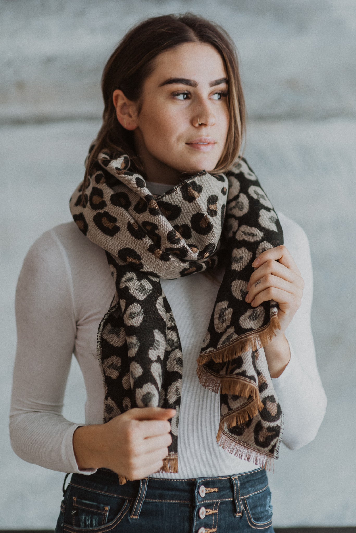 Now or Never Leopard Reversible Scarf