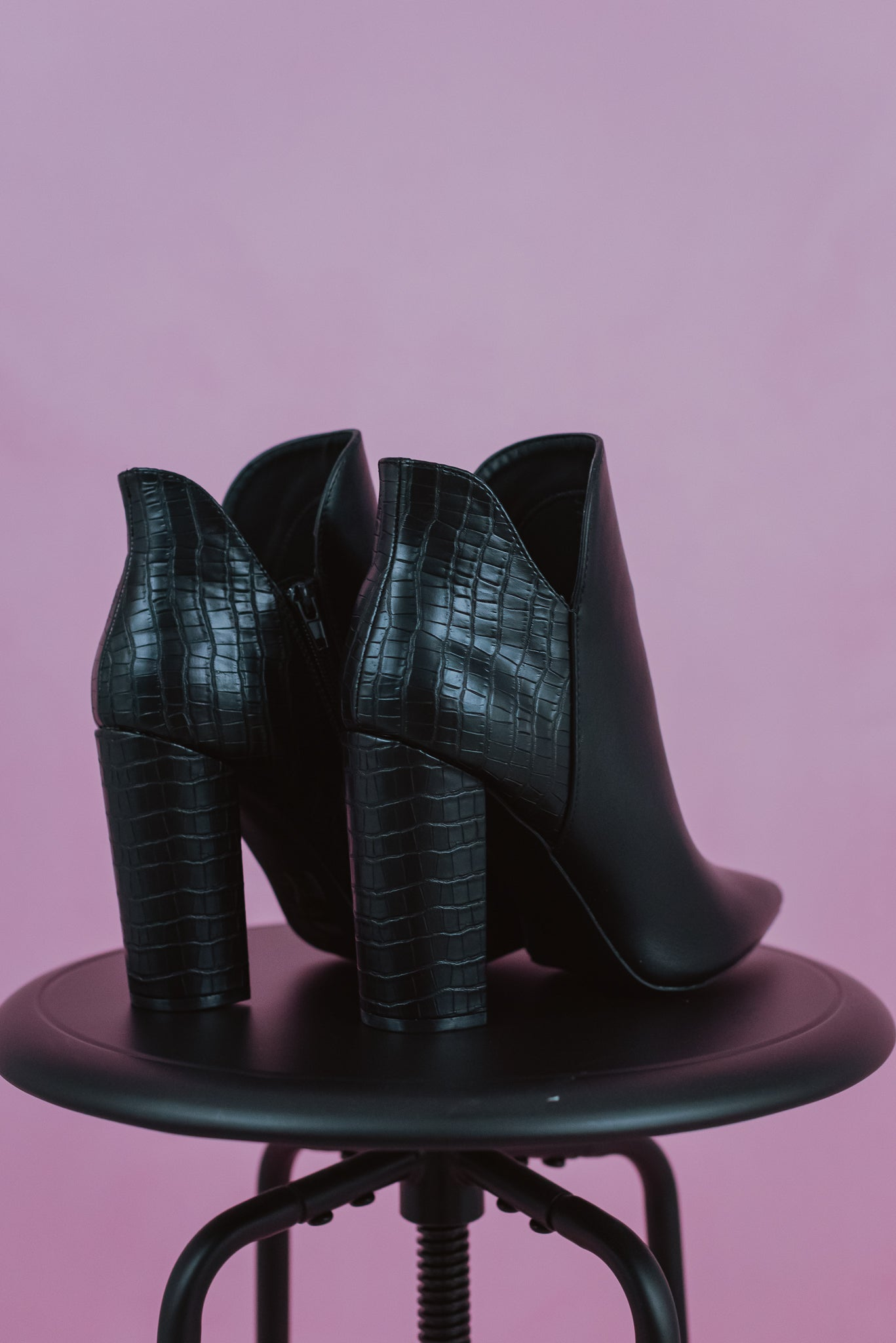 Nadia Pointed Ankle Boots in Black