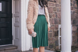 The Linda Pleated Midi Skirt