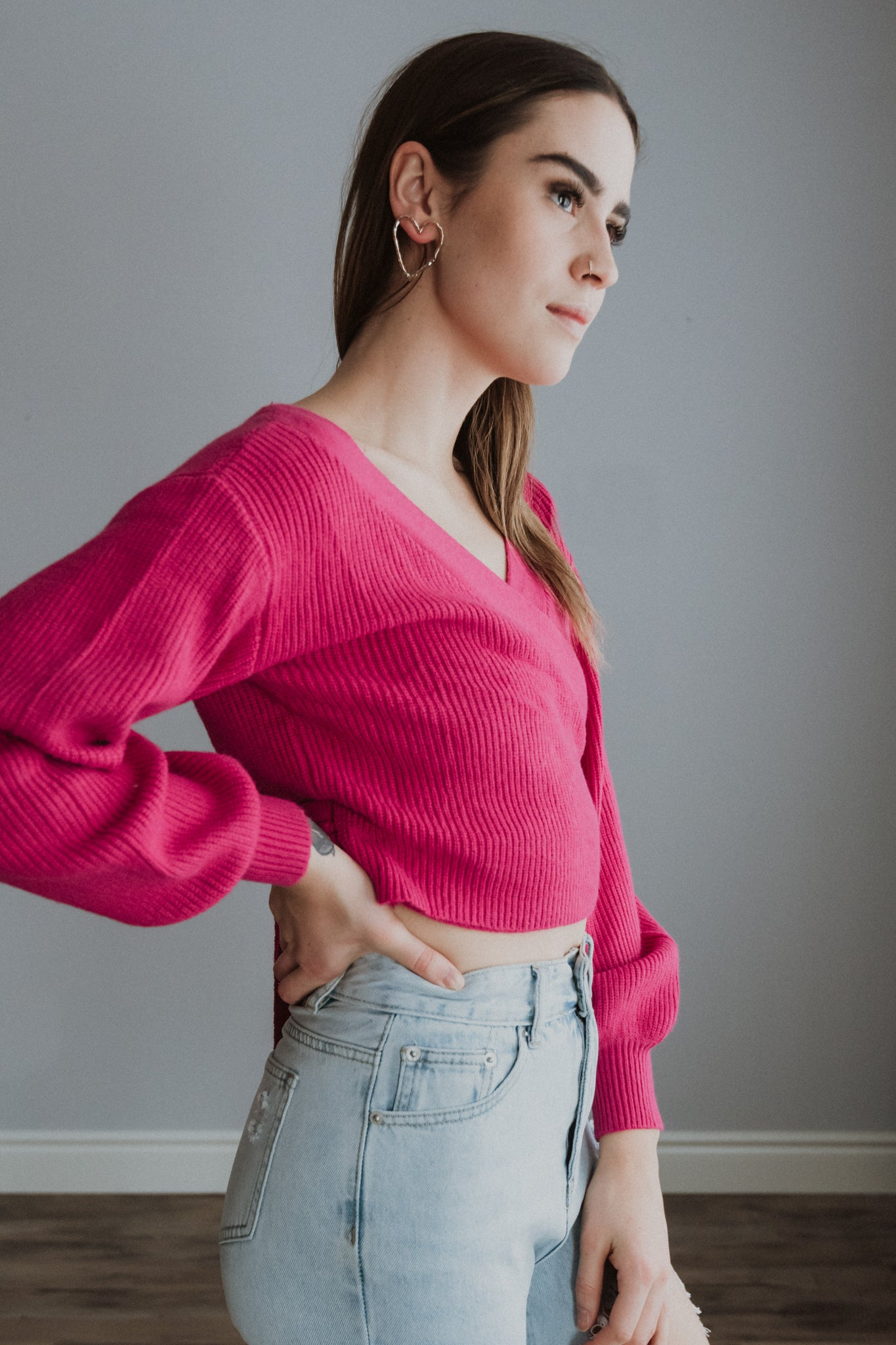 Made You Look Wrap Sweater / FINAL SALE