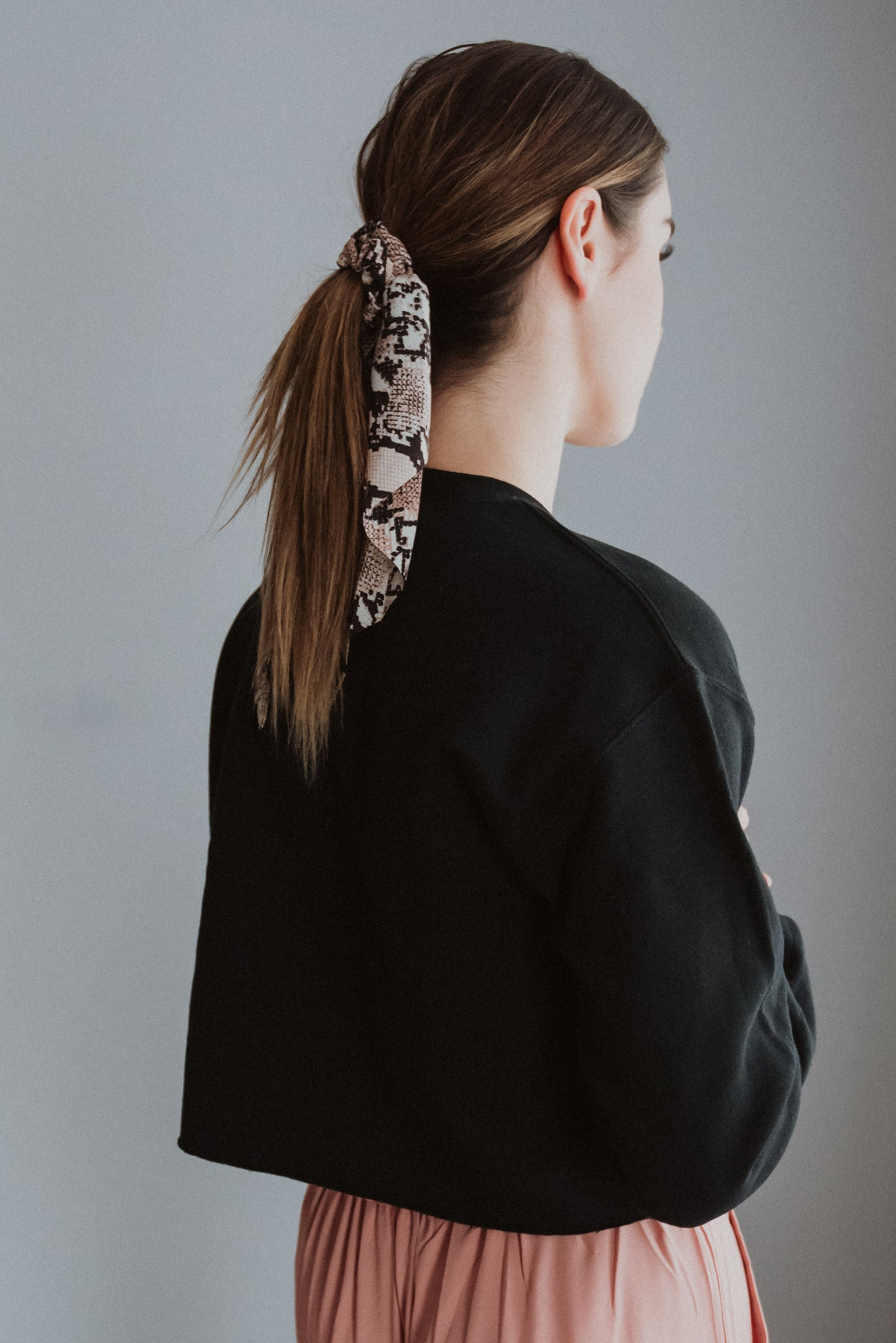 Super Sly Snake Print Scrunchie