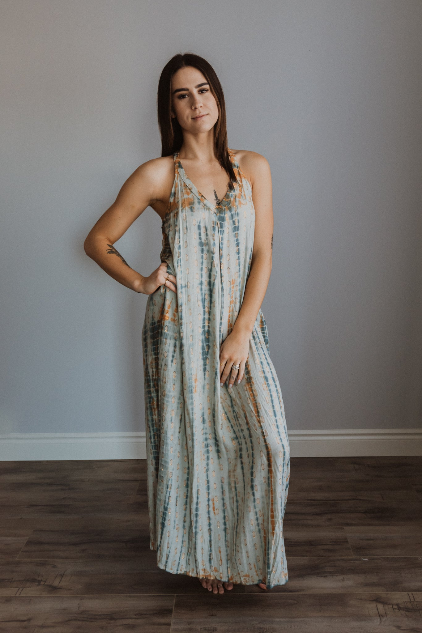 Sundrenched Tie Dye Halter Dress